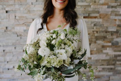 Organic wedding flowers