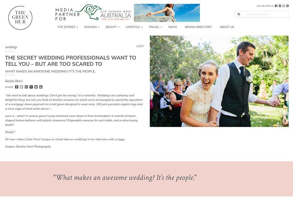 Eco-ethical wedding secrets