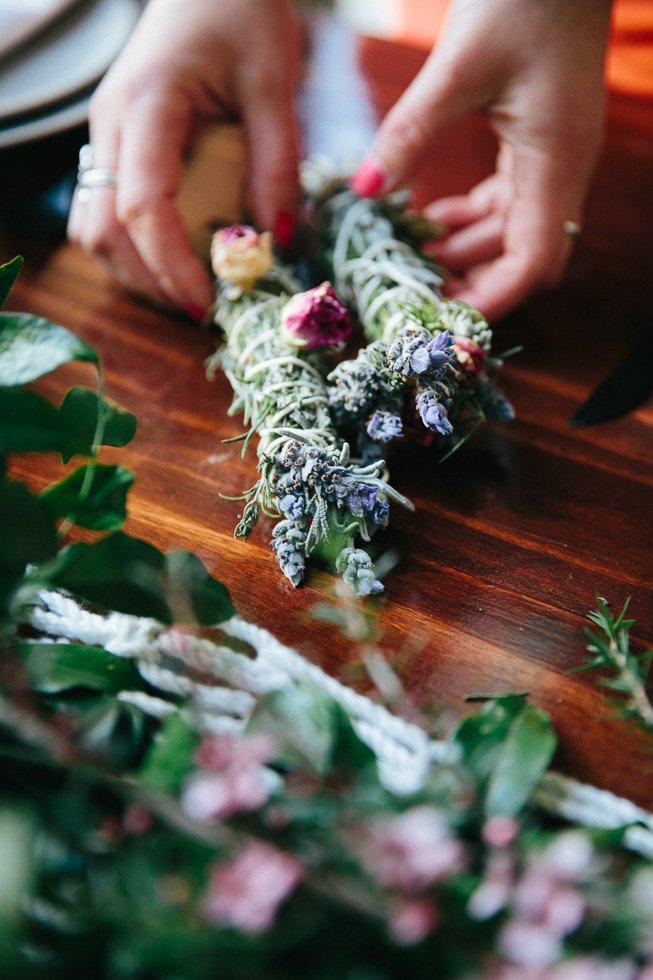 Upcycled wedding flowers smudge sticks