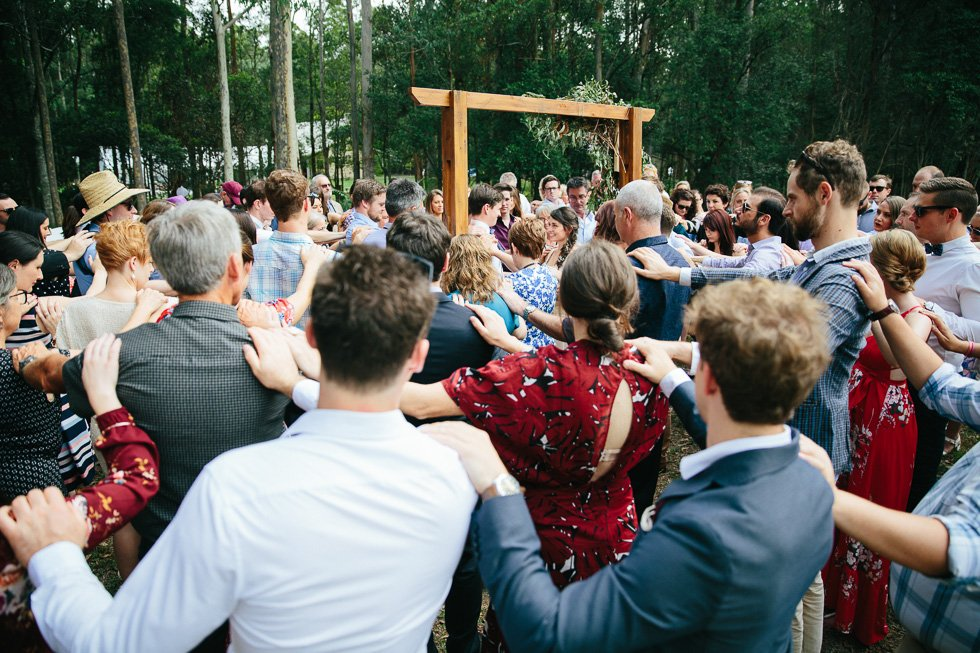 Circle of Love in wedding ceremony. By Sarah Tolmie.