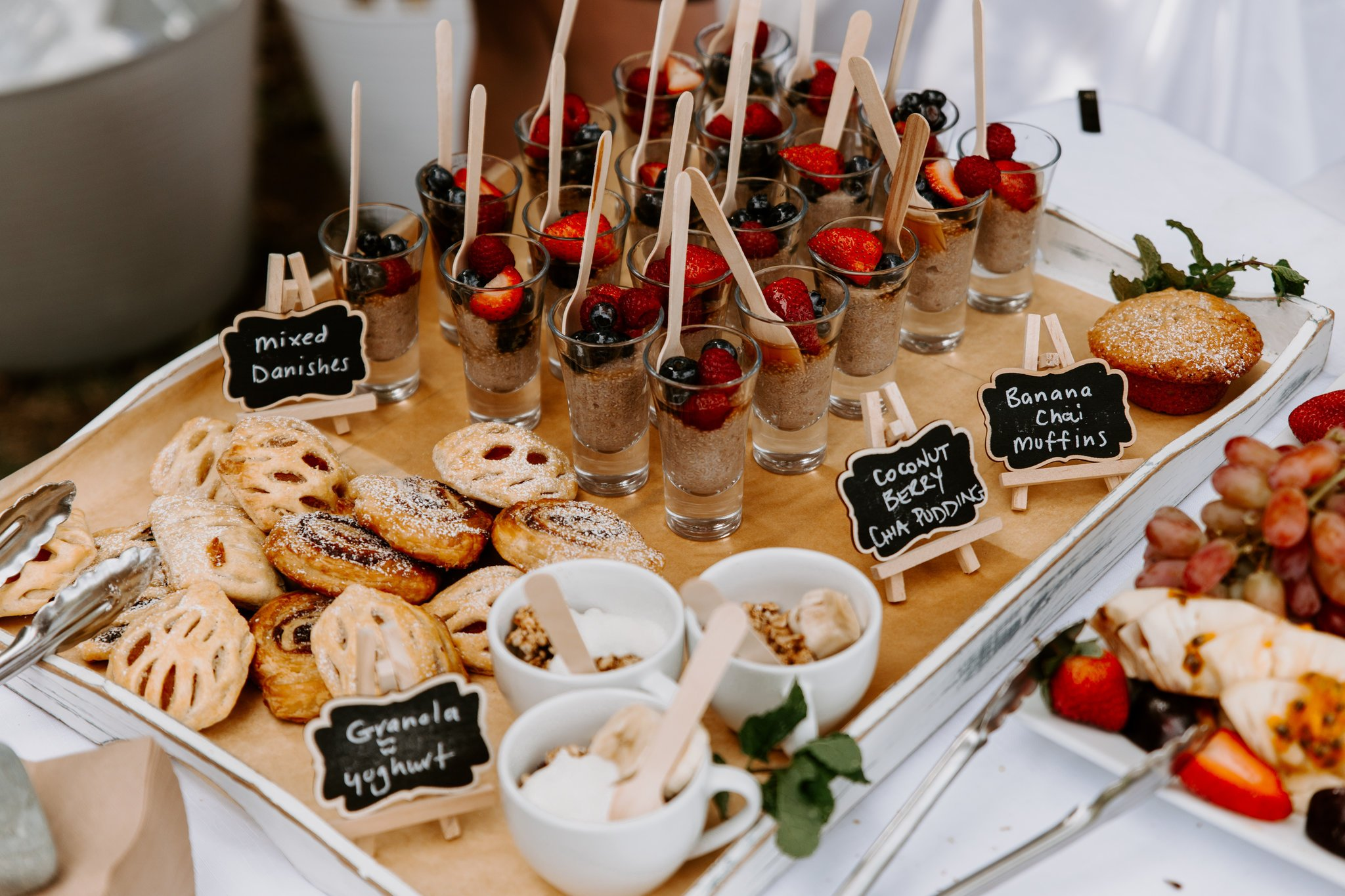 Breakfast wedding pastries