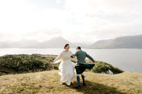 Scottish Highlands less stuff, more meaning wedding. By Lina Hayes Photography