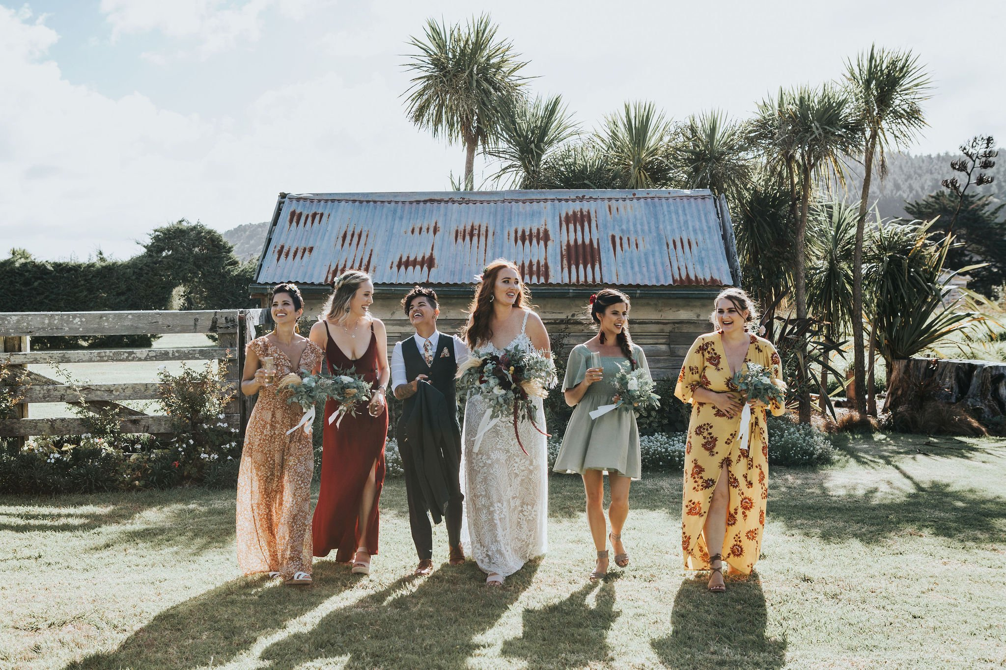 Sustainable wedding flowers Auckland. Image by Bianca Hawk.
