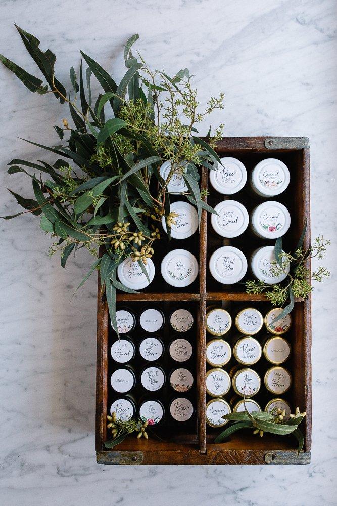 Organic Wedding Honey Favours