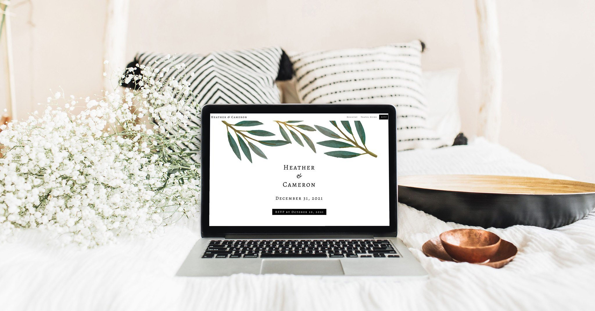 Wedding website builder, online invitations, brainy budget calculator,master planning checklist and sanity-saving, online RSVPs. Eco-friendly paperless wedding website and invites.