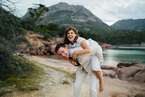 Wedding at Honeymoon Bay, Freycinet National Park, Freycinet Lodge.